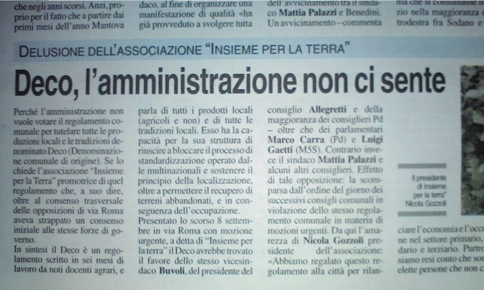 De.C.O. #Mantova, l'Amministrazione comunale non ci sente