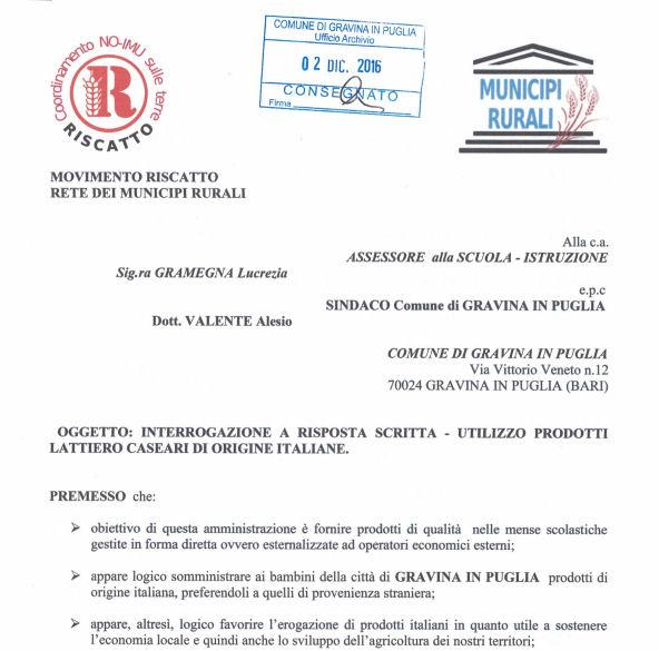 #Gravina in Puglia dice basta alle #multinazionali agroalimentari