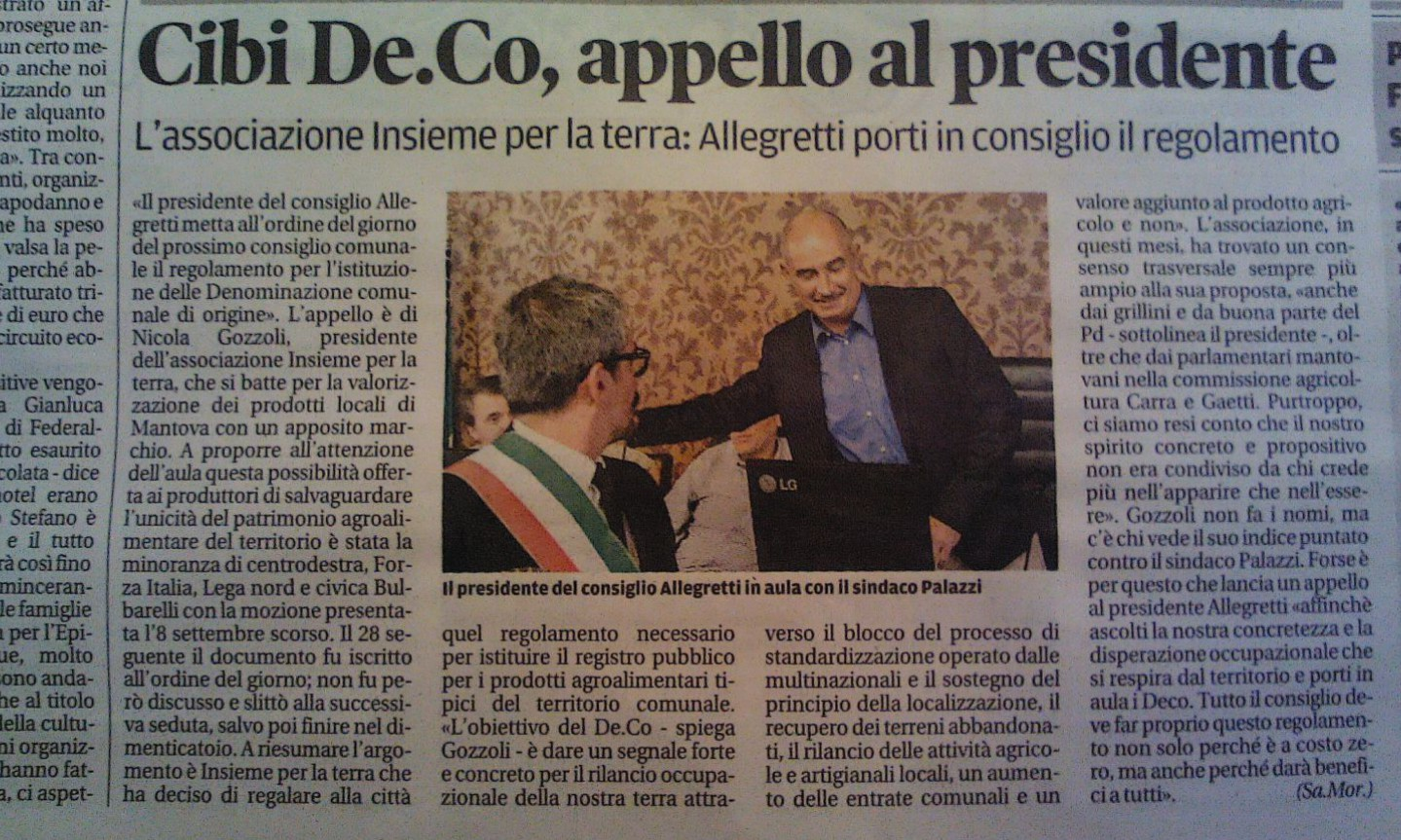 Gozzoli scatena la battaglia per il De.C.O. a #Mantova