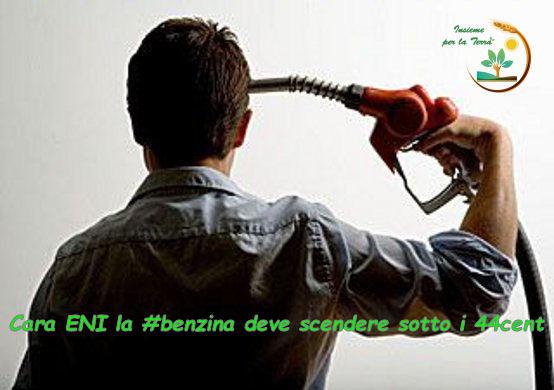 Cara ENI la #benzina deve scendere sotto i 44 cent