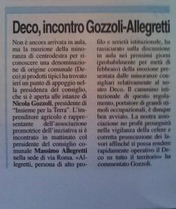 La Voce di Mantova, 3 febbraio 2016