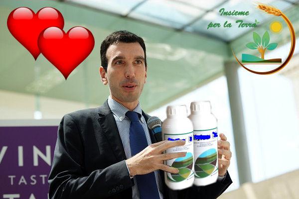 Sboccia l'amore tra il Ministro #Martina e il #Glifosato