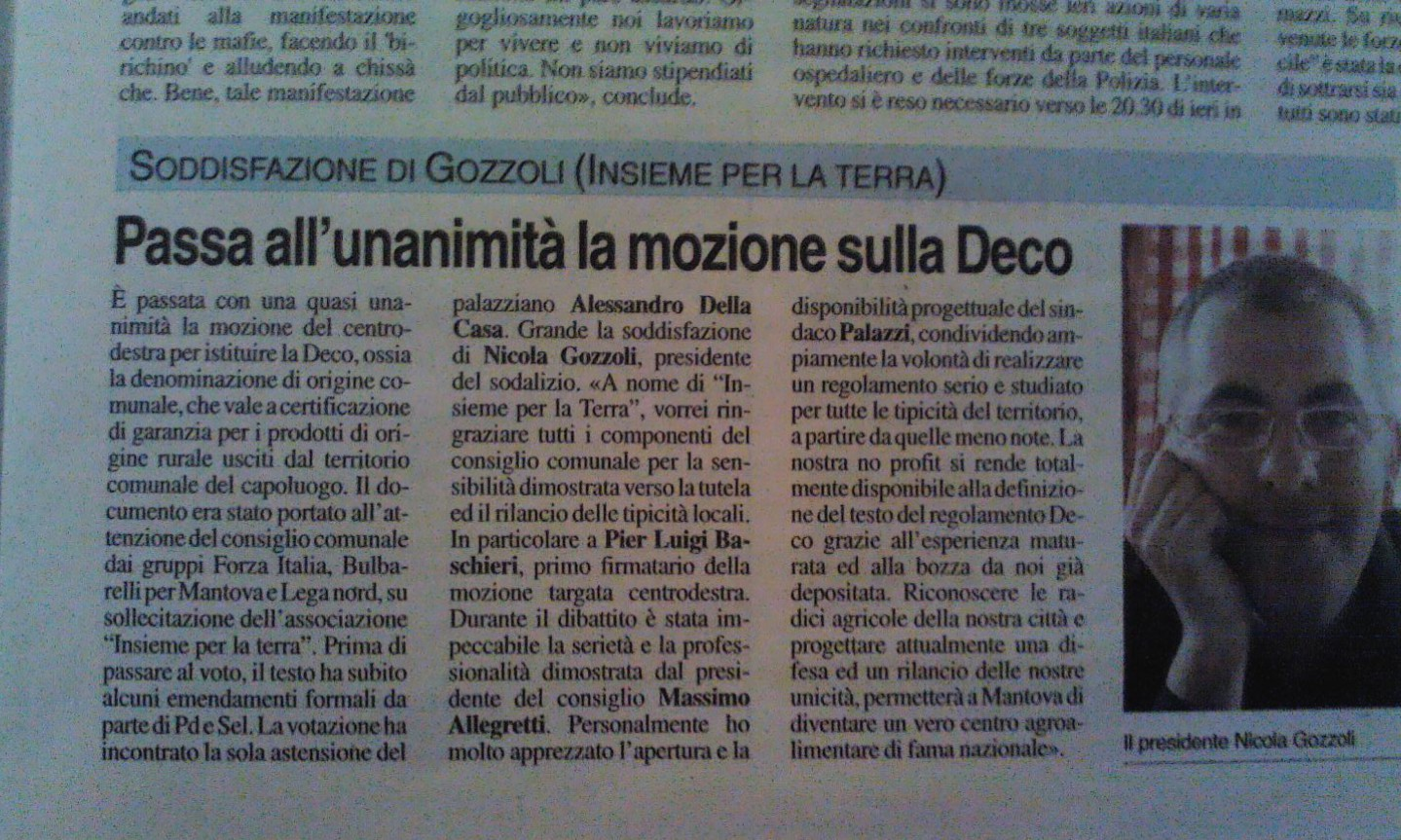 #Mantova dice SI al De.C.O., corre la difesa delle #tipicità locali