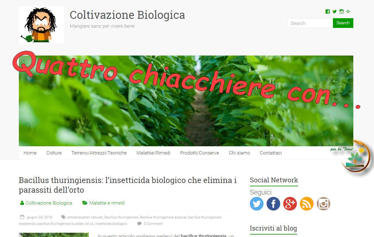 Quattro #chiacchiare con Enrico Miceli di coltivazionebiologica.it