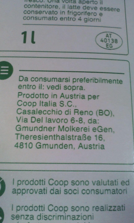 """Il #latte UHT Coop è """"Made in Austria"""". Ciao ciao #Italia !"""
