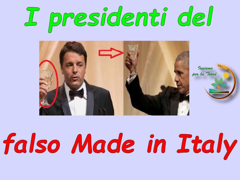 Renzi e Obama brindano con il Vermentino patacca. Autorizzato il falso Made in Italy