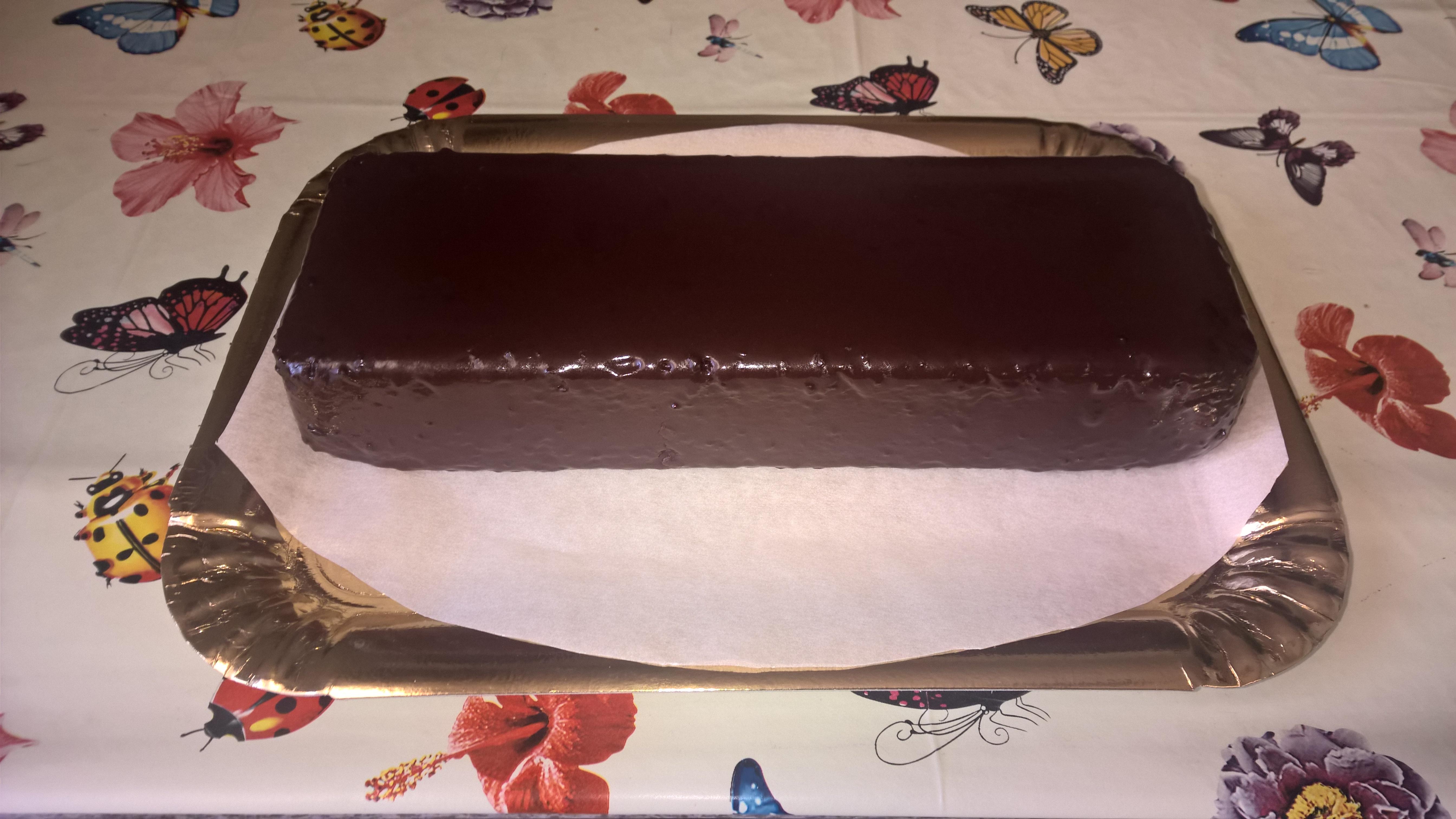 Le ricette di #Anna: #plumcake #ricoperto con #ganache al #cioccolato #fondente
