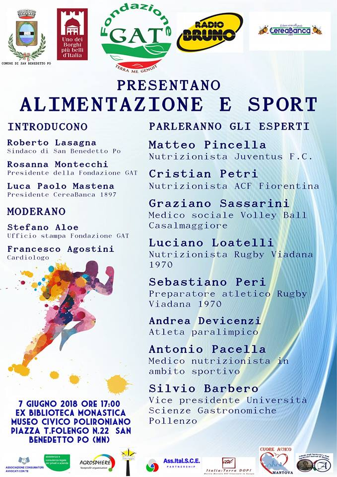 """Radio Bruno parla di """"Alimentazione e Sport"""" ideato da Fondazione GAT"""