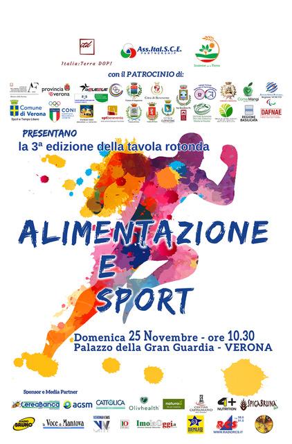 ALIMENTAZIONE E SPORT domani a Verona: perché creare una rete associativa